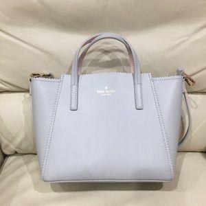 HP🎉 Kate Spade Gray Grey Pink Satchel Purse Bag